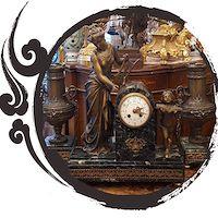 پایه ساعت شمعدان فرانسوی