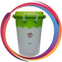 سطل دو رنگ قفلی پلاستیکی