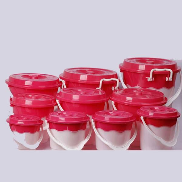 سطل 6 دو رنگ  پلاستیکی (خرید) کد 106