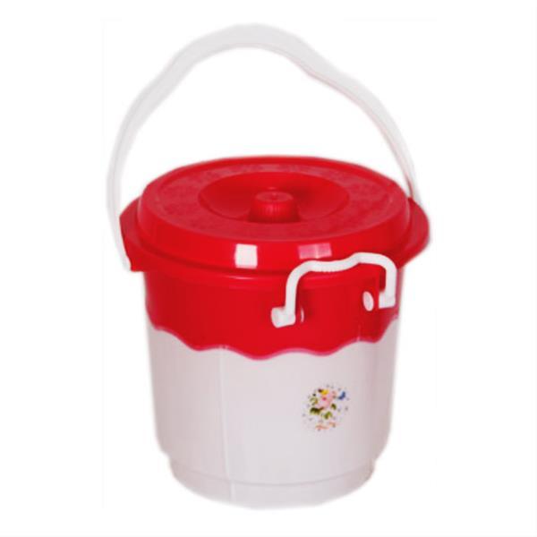 قیمت سطل 14 دو رنگ قفلی پلاستیکی کد 214