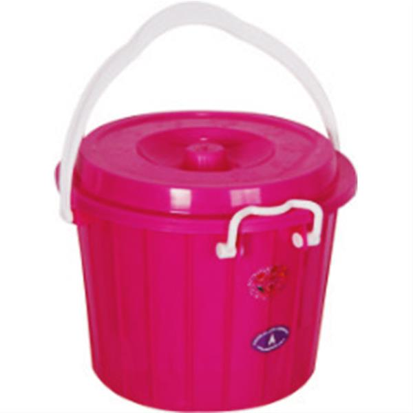 تولید کننده سطل دو رنگ قفلی پلاستیکی کد 205
