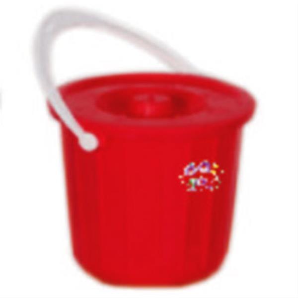 سطل درب دار پلاستیکی کد 201