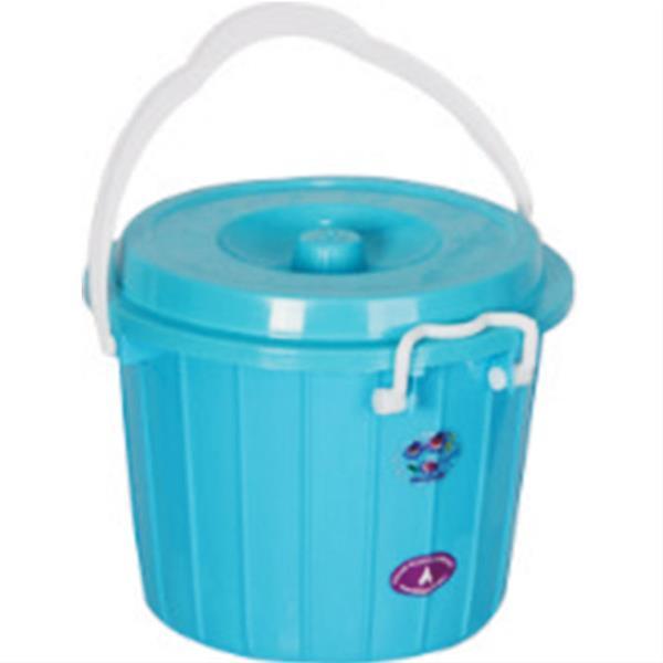 قیمت سطل دو رنگ قفلی پلاستیکی کد 203
