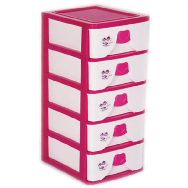 فایل پنج طبقه رمانتیک A4 پلاستیکی کد 5A4