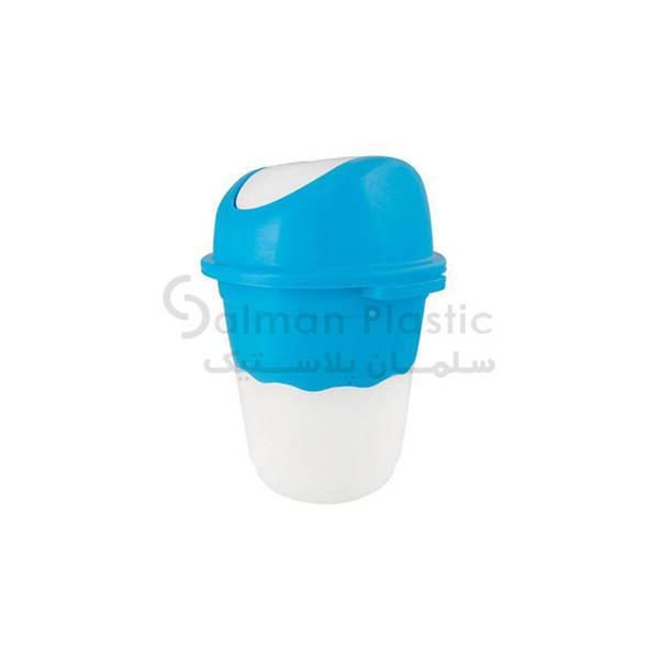 سطل ٦٦٠ بادبزنی دو رنگ پلاستیکی