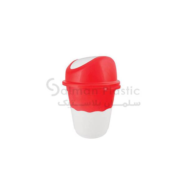 سطل ٦٢٠ بادبزنی دو رنگ پلاستیکی