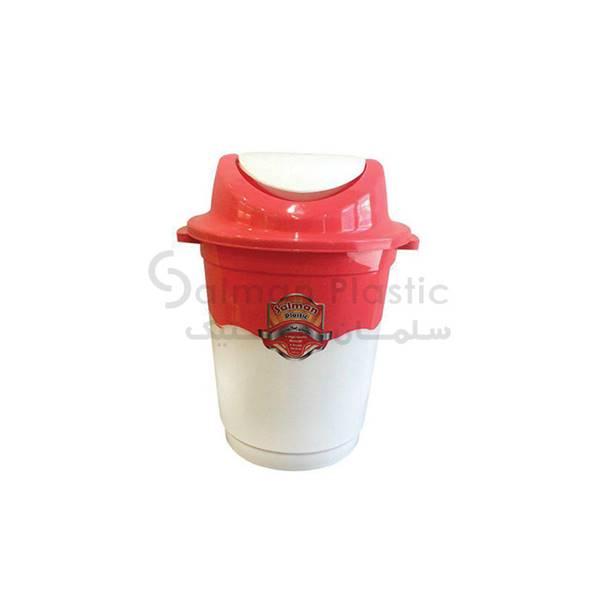 سطل ٦٠٠ بادبزنی دو رنگ پلاستیکی