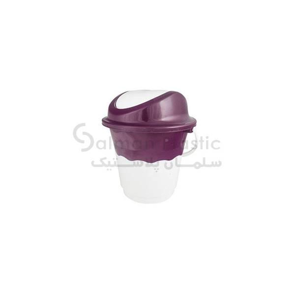 سطل ١٤ متوسط بادبزنی دو رنگ پلاستیکی