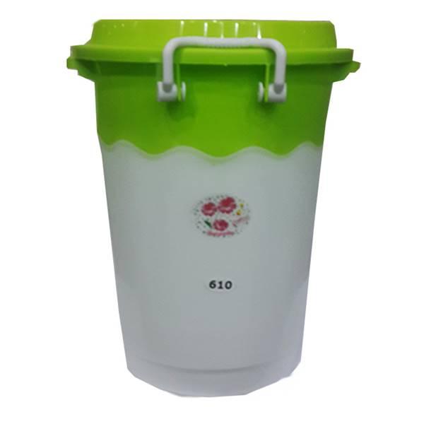 سطل دو رنگ قفلی پلاستیکی 610