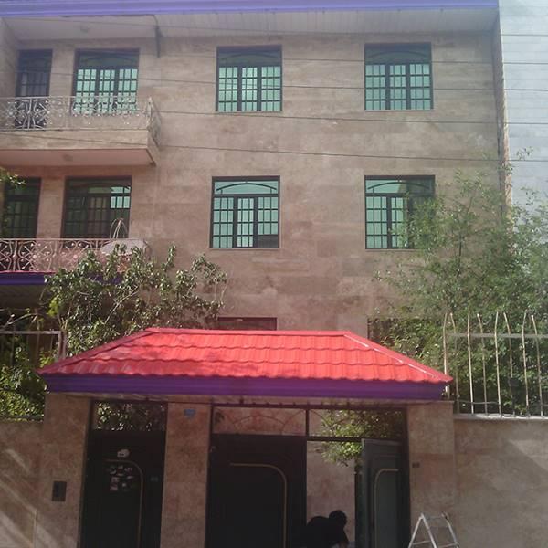 اجرای کلیه سقف های شیب دار سر درب منازل و حیاط
