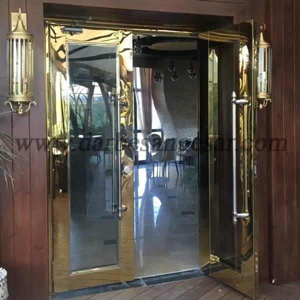 ساخت درب دو لنگه استیل-درب استیل