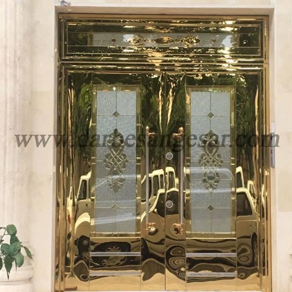 طراحی درب تک لنگه استیل-درب استیل