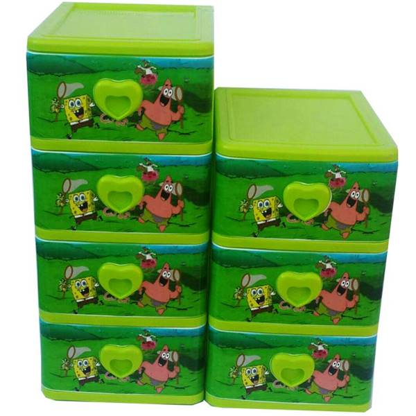 فایل پلاستیکی 3 و 4 طبقه طرح کودک با عکس باب اسفنجی