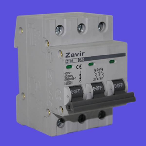 کلید مینیاتوری سه فاز مدل ZT06-3p کلید زاویر