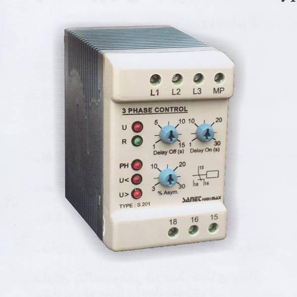 رله الکترونیکی کنترل فاز S-201 صانت الکترونیک