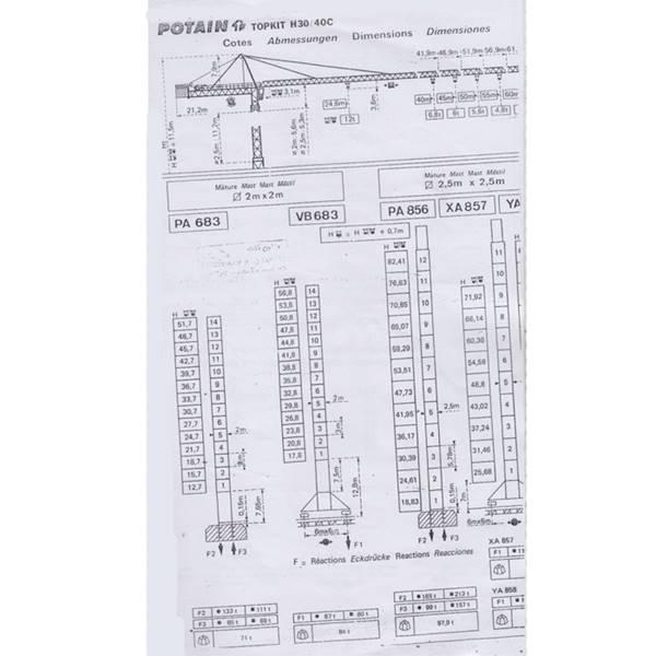 تاور کرین H30-40C