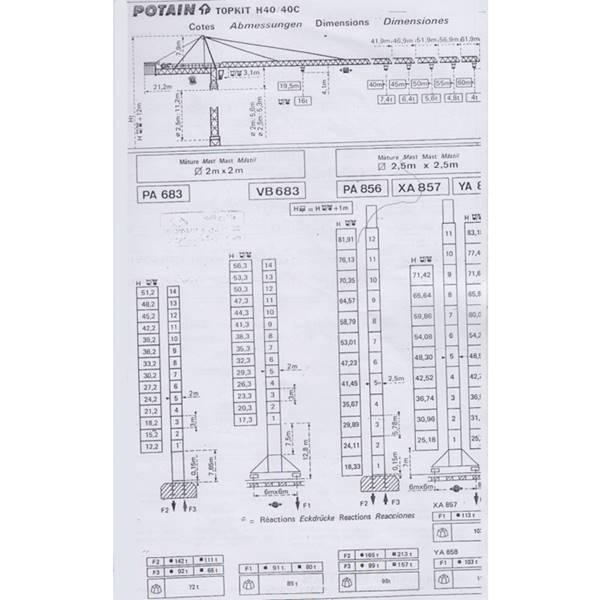 تاور کرین H40-40C