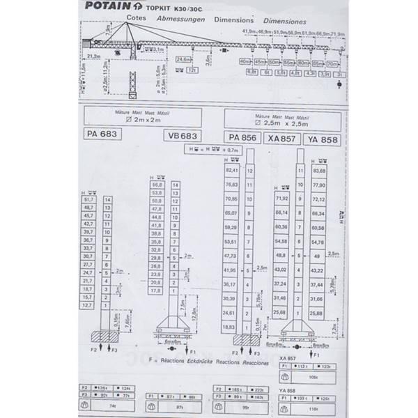 تاور کرین K30-30C