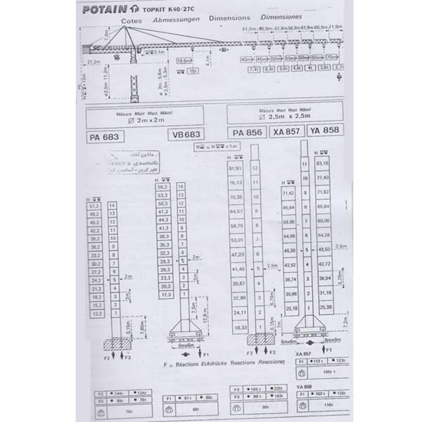 تاور کرین K40-27C