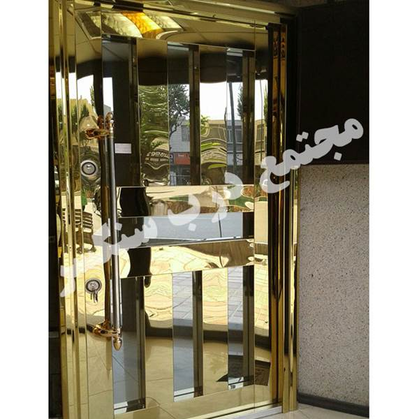 تولید درب تک لنگه  استیل طلایی