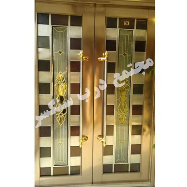 درب استنلس استیل طلایی