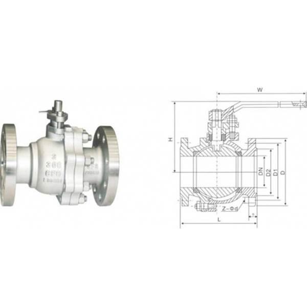 تولید کننده شیر توپی ANSI 150LB CF8 6...........................................................................