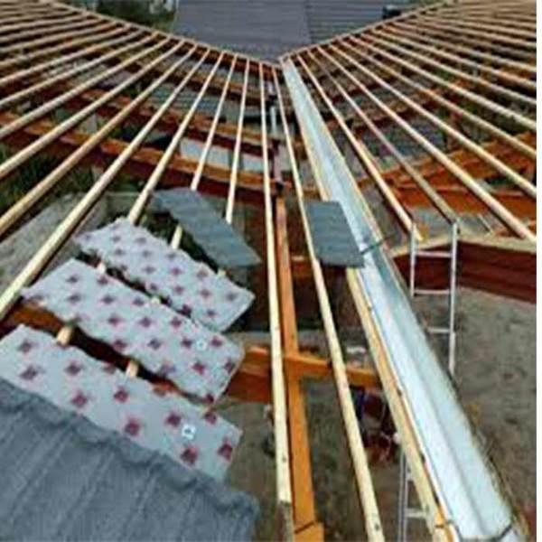 پوشش سقف شیبدار با عایق پشم سنگ