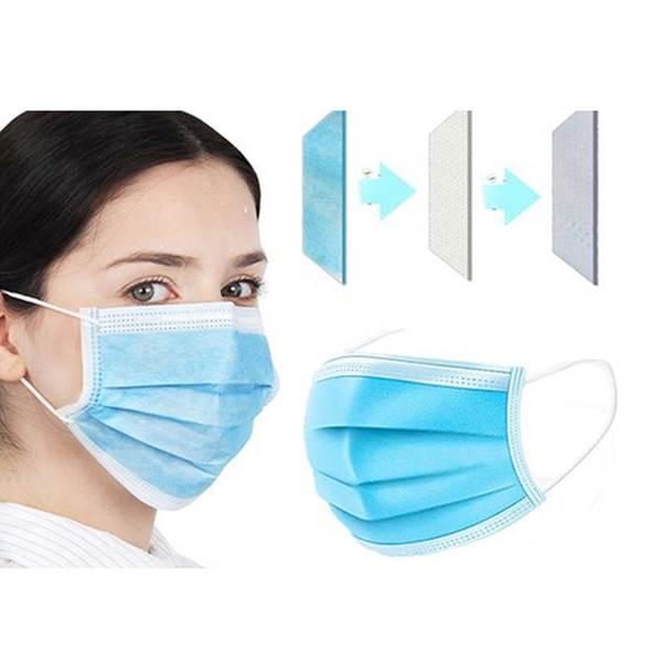 ماسک یکبار مصرف سه لایه