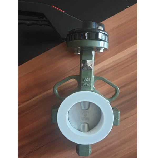 شیر پروانه ای  فولاد دیسک استیل سیت PTFE